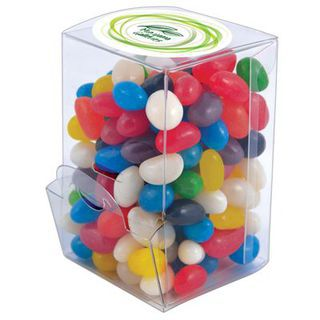 Promotional Product Assorted Colour Mini Jelly Beans in Mini Confectionery Dispenser
