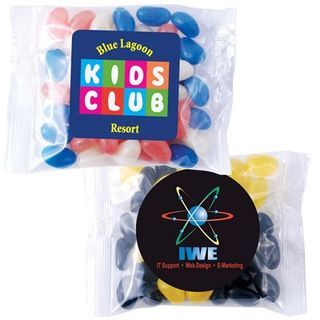 Promotional Product Corporate Colour Mini Jelly Beans in 60 Gram Cello Bag