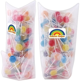 Promotional Product Assorted Colour Lollipops in Confectionery Dispenser