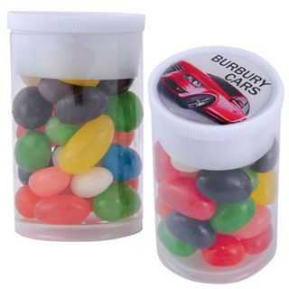 Promotional Product Assorted Colour Mini Jelly Beans In Dinky Tube