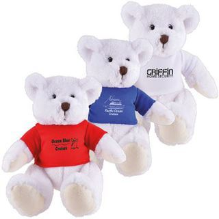 Promotional Product Frosty (White) Plush Teddy Bear