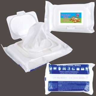Promotional Product Anti Bacterial Wipes In Pouch