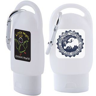 Promotional Product 30ml Liquid Hand Sanitiser with Carabiner