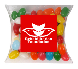 Promotional Product ASSORTED COLOUR MINI JELLY BEANS IN PILLOW PACKS