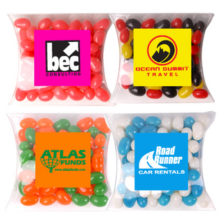 Promotional Product CORPORATE COLOUR JELLY BEANS IN PILLOW PACKS