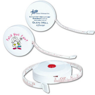 Promotional Product WHITE STYLELINE TAPE MEASURE