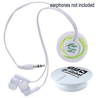 Promotional Product Magnetic Clip Earphone Cord Retainer * Earphones not included*