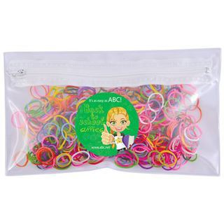 Promotional Product Assorted Colour Loom Bands in PVC Organiser / Pencil Case with Zipper