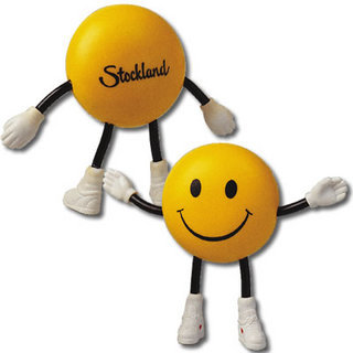 Promotional Product Anti Stress Smile Guy w/ Bendy Limbs
