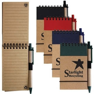 Promotional Product Tradie Cardboard Notebook With Pen