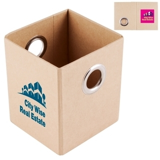 Promotional Product Folding Cardboard Pen Holder / Organiser