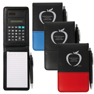 Promotional Product PVC NOTEPAD WITH CALCULATOR AND PEN