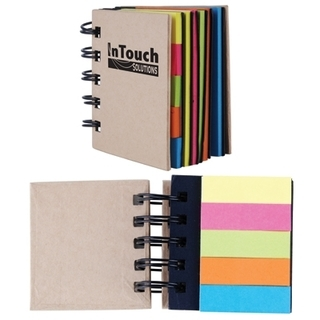 Promotional Product Spiral Notebook with Noteflags