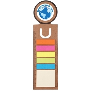 Promotional Product Circle Bookmark/ Ruler With Noteflags