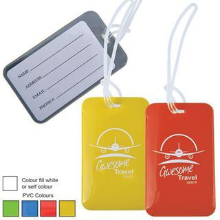 Promotional Product FIRENZE SHINY PVC LUGGAGE TAG WITH LOOP
