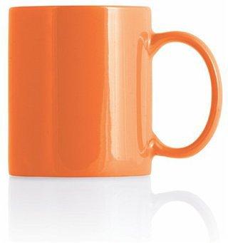 Promotional Product Orange Mug with White Inner