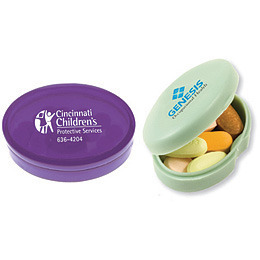 Promotional Product Oval Pill Box