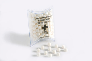Promotional Product 50gm Mint Bag in PVC Pillow Pack