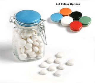Promotional Product Mints in Clip Lock Jar 80g