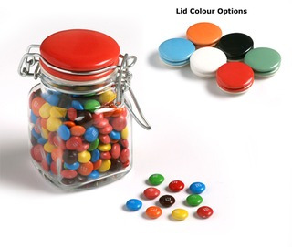 Promotional Product Mini M&Ms in Clip Lock jar 80g