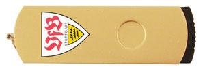 Promotional Product Stork Gold Swivel USB Flashdrive