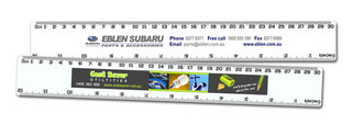 Promotional Product 30cm White Ruler with small full colour print
