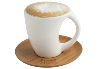 Promotional Product Carmel Mug & Saucer