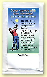 Promotional Product Sunscreen Sachets