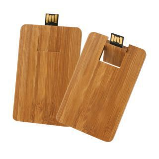 Promotional Product Wooden Credit Card Flashdrive