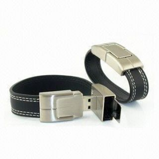 Promotional Product Leather Wristband  USB Flashdrive