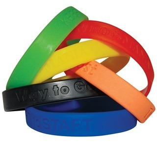 Promotional Product Debossed Silicone Wristbands