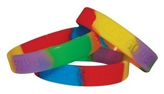 Promotional Product Sectional Coloured Debossed Wristbands