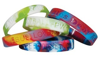 Promotional Product Multi-Coloured Debossed Wristbands