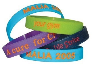 Promotional Product Debossed Colour Filled Wristbands
