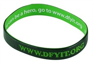 Promotional Product Wristband with Inside Print and Outside Colour Infill