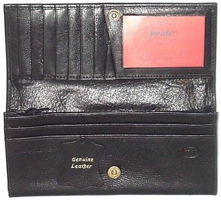Promotional Product Deluxe Leather Purse (Blk) SPB