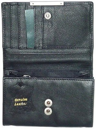 Promotional Product Small Leather Clutch Purse (Blk, Brn) SPB